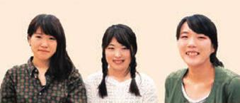 三井かおりさん、俣野友美さん、峯川まなつさん